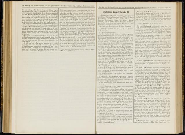 Raadsverslagen van de gemeente Leeuwarden, 1865-2007 (Notulen) 1918-11-12