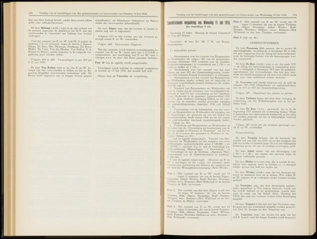 Raadsverslagen van de gemeente Leeuwarden, 1865-2007 (Notulen) 1936-07-15