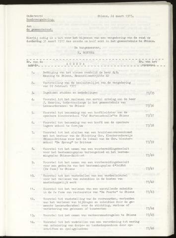 Notulen van de gemeenteraad van Leeuwarderadeel 1977-03-31