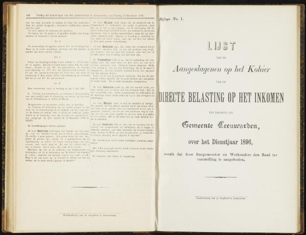 Raadsverslagen van de gemeente Leeuwarden, 1865-2007 (Bijlagen) 1896-01-01