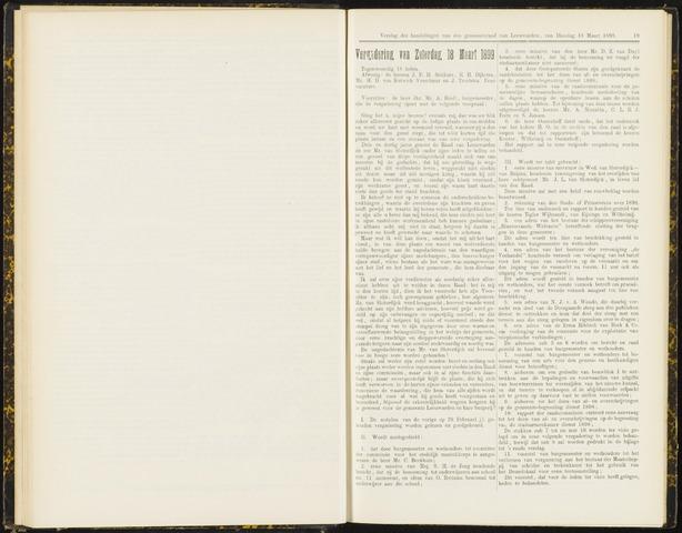 Raadsverslagen van de gemeente Leeuwarden, 1865-2007 (Notulen) 1899-03-18