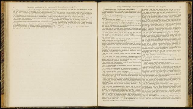 Raadsverslagen van de gemeente Leeuwarden, 1865-2007 (Notulen) 1874-07-09