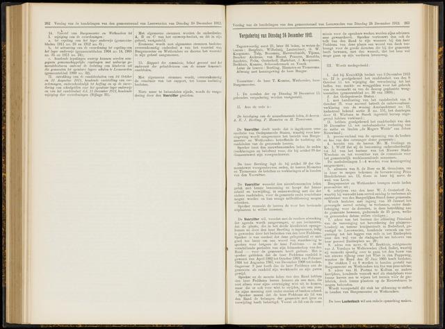 Raadsverslagen van de gemeente Leeuwarden, 1865-2007 (Notulen) 1912-12-24
