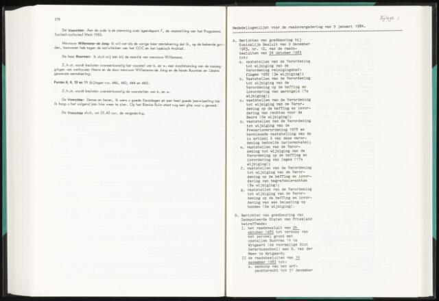 Raadsverslagen van de gemeente Leeuwarden, 1865-2007 (Bijlagen) 1984-01-01