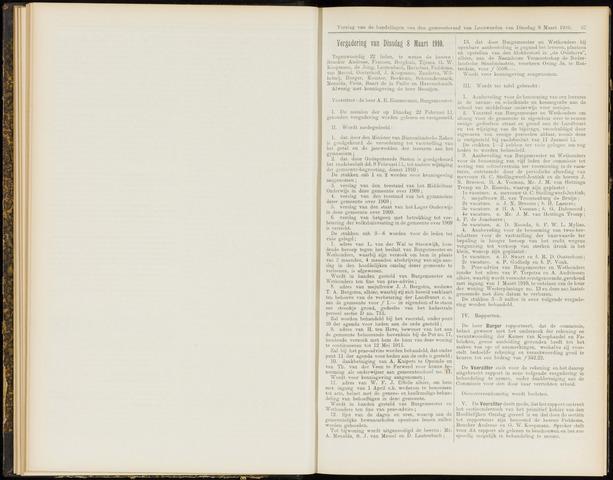 Raadsverslagen van de gemeente Leeuwarden, 1865-2007 (Notulen) 1910-03-08