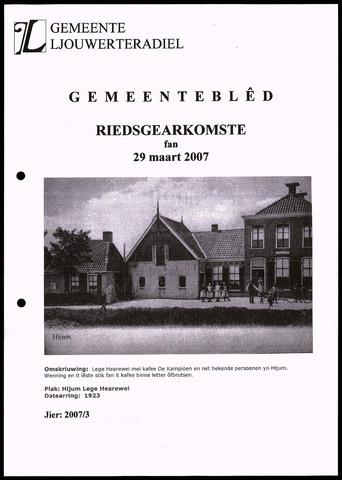 Notulen van de gemeenteraad van Leeuwarderadeel 2007-03-29