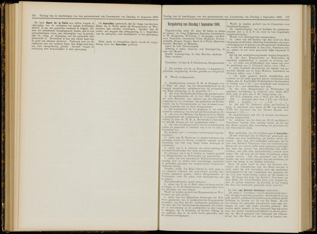 Raadsverslagen van de gemeente Leeuwarden, 1865-2007 (Notulen) 1908-09-01