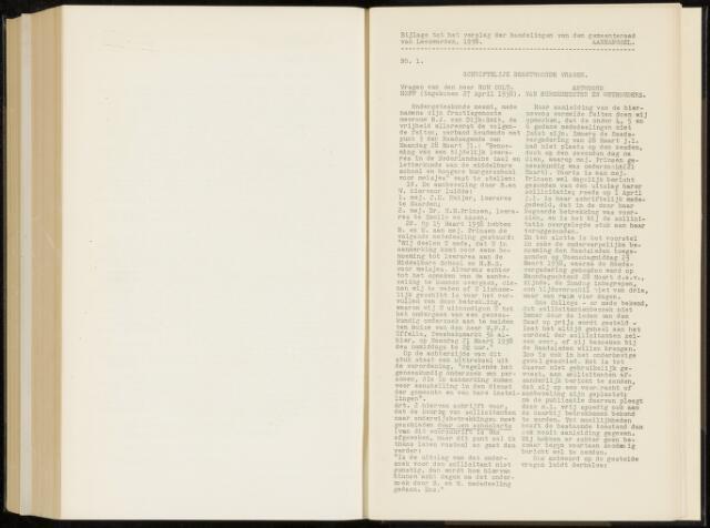 Raadsverslagen van de gemeente Leeuwarden, 1865-2007 (Schriftelijke vragen) 1938