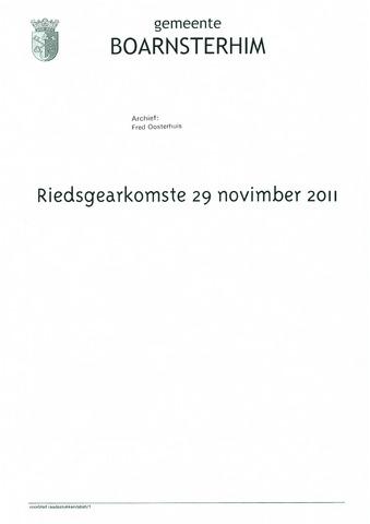 Boarnsterhim vergaderstukken gemeenteraad  2011-11-29