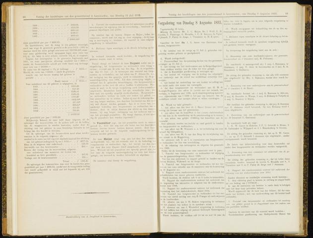 Raadsverslagen van de gemeente Leeuwarden, 1865-2007 (Notulen) 1893-08-08