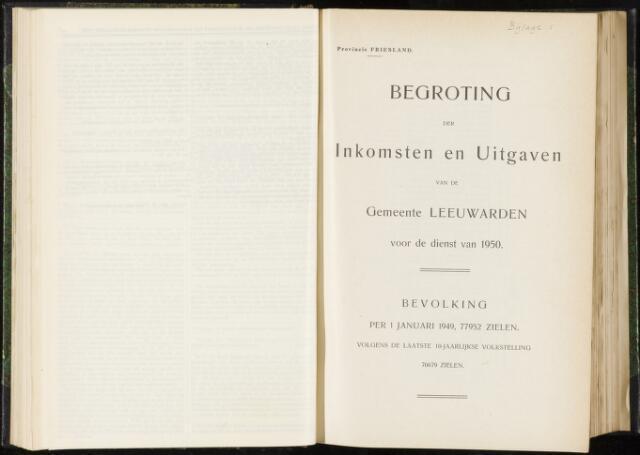 Raadsverslagen van de gemeente Leeuwarden, 1865-2007 (Bijlagen) 1950-01-01