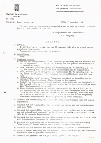 raadsverslagen Idaarderadeel 1935-1983 1968-12-10