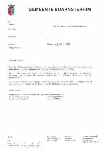 Boarnsterhim vergaderstukken gemeenteraad  1986-10-14