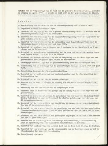 Notulen van de gemeenteraad van Leeuwarderadeel 1970-04-24