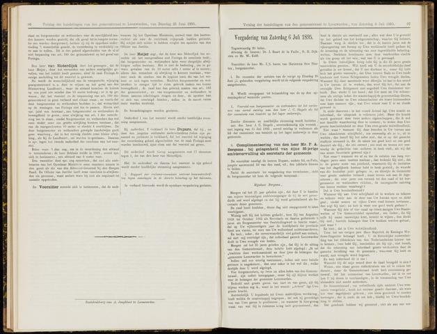 Raadsverslagen van de gemeente Leeuwarden, 1865-2007 (Notulen) 1895-07-06