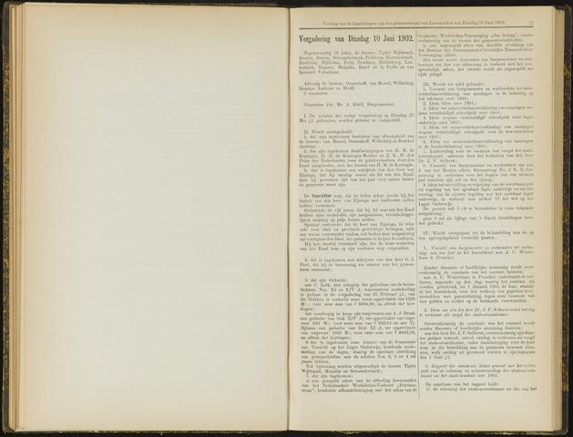 Raadsverslagen van de gemeente Leeuwarden, 1865-2007 (Notulen) 1902-06-10