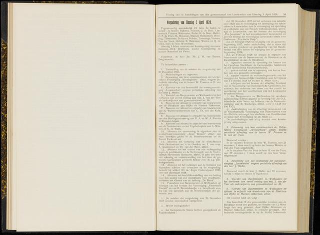 Raadsverslagen van de gemeente Leeuwarden, 1865-2007 (Notulen) 1928-04-03
