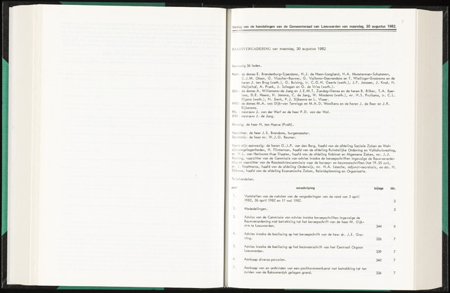 Raadsverslagen van de gemeente Leeuwarden, 1865-2007 (Notulen) 1982-08-30