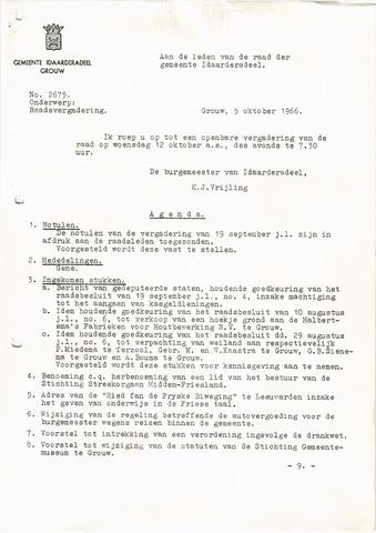 raadsverslagen Idaarderadeel 1935-1983 1966-10-12