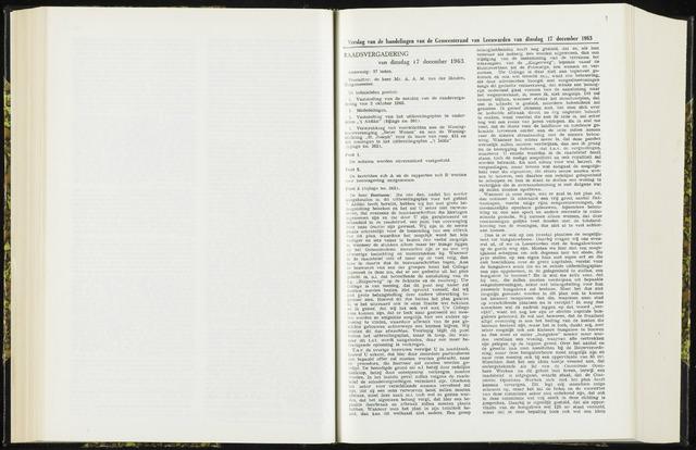 Raadsverslagen van de gemeente Leeuwarden, 1865-2007 (Notulen) 1963-12-17