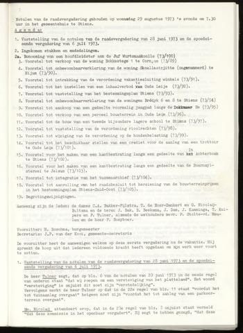 Notulen van de gemeenteraad van Leeuwarderadeel 1973-08-29