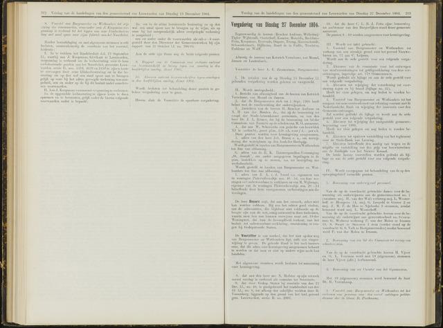 Raadsverslagen van de gemeente Leeuwarden, 1865-2007 (Notulen) 1904-12-27