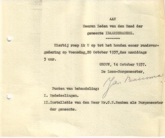 raadsverslagen Idaarderadeel 1935-1983 1937-10-20