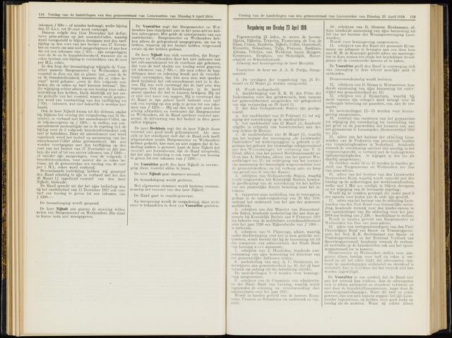 Raadsverslagen van de gemeente Leeuwarden, 1865-2007 (Notulen) 1918-04-23
