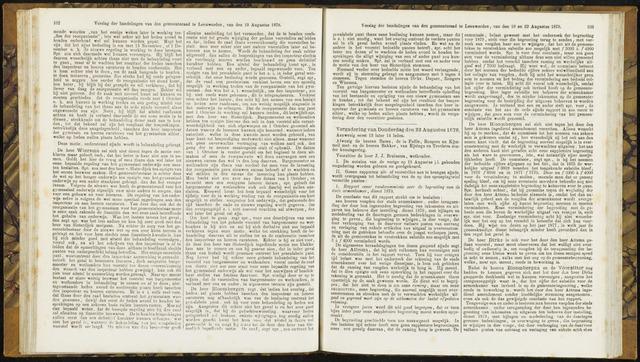 Raadsverslagen van de gemeente Leeuwarden, 1865-2007 (Notulen) 1878-08-22