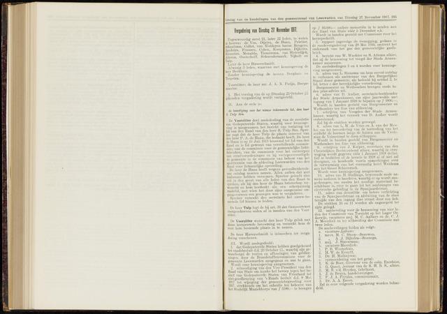 Raadsverslagen van de gemeente Leeuwarden, 1865-2007 (Notulen) 1917-11-27