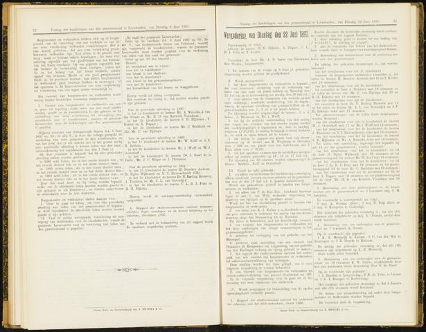 Raadsverslagen van de gemeente Leeuwarden, 1865-2007 (Notulen) 1897-06-22