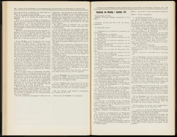 Raadsverslagen van de gemeente Leeuwarden, 1865-2007 (Notulen) 1937-09-01
