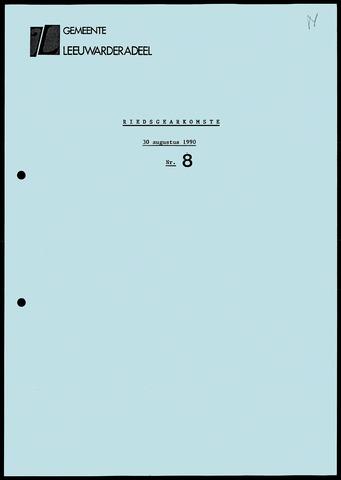 Notulen van de gemeenteraad van Leeuwarderadeel 1990-08-30