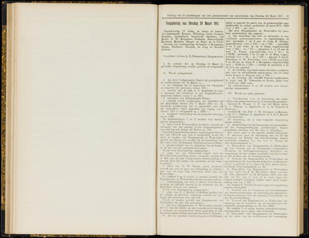 Raadsverslagen van de gemeente Leeuwarden, 1865-2007 (Notulen) 1911-03-28