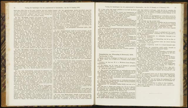 Raadsverslagen van de gemeente Leeuwarden, 1865-2007 (Notulen) 1878-02-06