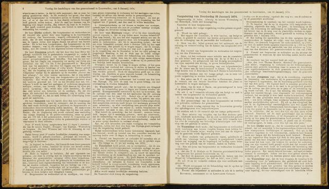 Raadsverslagen van de gemeente Leeuwarden, 1865-2007 (Notulen) 1874-01-22