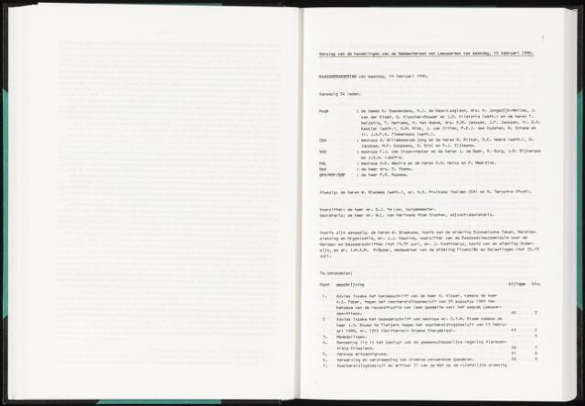Raadsverslagen van de gemeente Leeuwarden, 1865-2007 (Notulen) 1990-02-19