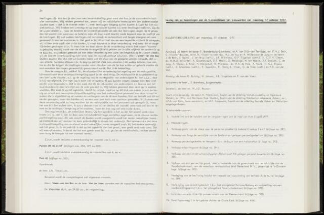 Raadsverslagen van de gemeente Leeuwarden, 1865-2007 (Notulen) 1977-10-17