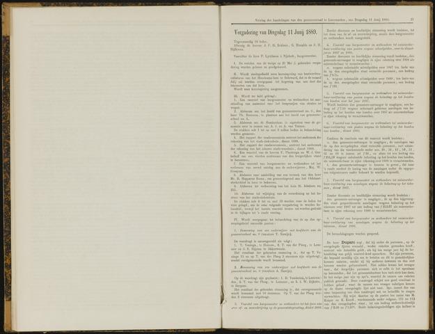 Raadsverslagen van de gemeente Leeuwarden, 1865-2007 (Notulen) 1889-06-11
