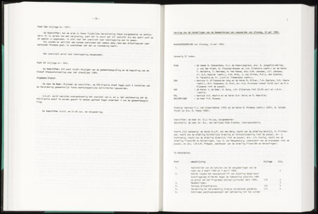 Raadsverslagen van de gemeente Leeuwarden, 1865-2007 (Notulen) 1989-05-16