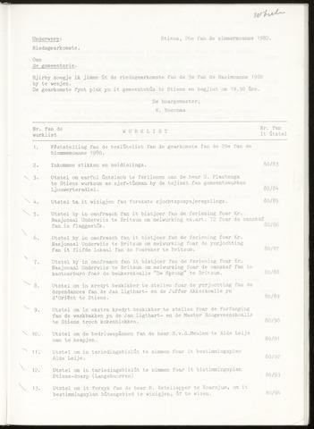 Notulen van de gemeenteraad van Leeuwarderadeel 1980-06-26