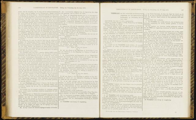 Raadsverslagen van de gemeente Leeuwarden, 1865-2007 (Notulen) 1869-07-29