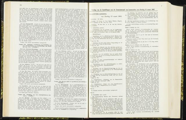 Raadsverslagen van de gemeente Leeuwarden, 1865-2007 (Notulen) 1962-03-13