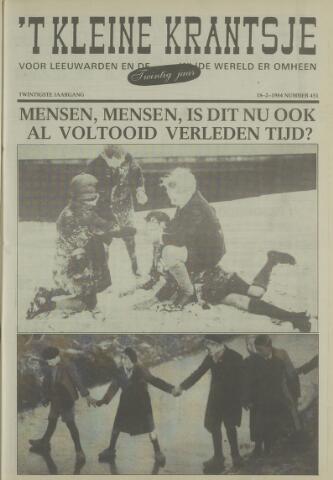 't Kleine Krantsje, 1964-1997 1984-02-18