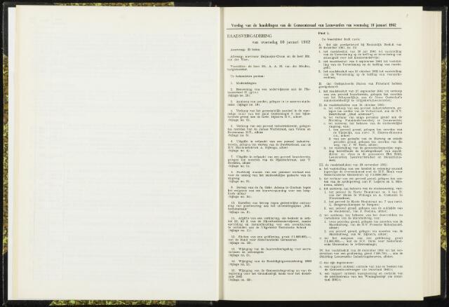 Raadsverslagen van de gemeente Leeuwarden, 1865-2007 (Notulen) 1962