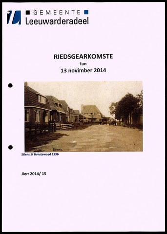 Notulen van de gemeenteraad van Leeuwarderadeel 2014-11-13