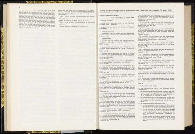 Raadsverslagen van de gemeente Leeuwarden, 1865-2007 (Notulen) 1960-03-23