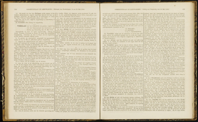 Raadsverslagen van de gemeente Leeuwarden, 1865-2007 (Notulen) 1868-05-28