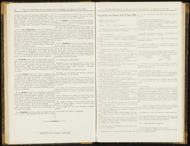 Raadsverslagen van de gemeente Leeuwarden, 1865-2007 (Notulen) 1893-06-27