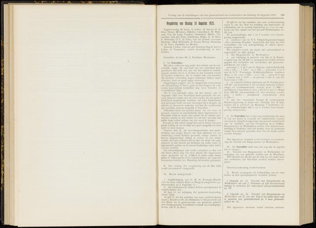 Raadsverslagen van de gemeente Leeuwarden, 1865-2007 (Notulen) 1925-08-18